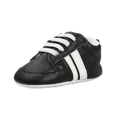 2d9cd0b26 Zapatos para bebé Auxma Zapatillas Bebé niño niña Zapatillas Bebé Prewalker  de Cuero PU por 3-6 6-12 12-18 Mes  Amazon.es  Zapatos y complementos