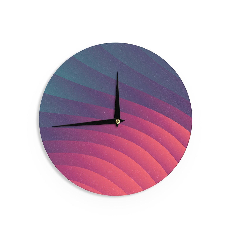 Kess InHouse Danny Ivan Reservoir Lines Pink Geometric Wall Clock 12 Diameter