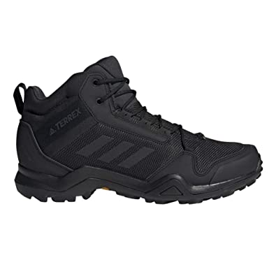 adidas outdoor Men's Terrex AX3 Mid GTX Black/Black/Carbon 9.5 D US
