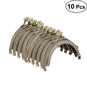 SUPVOX Metal Arch Frame Kiss Cierre Cerradura Semi Circular Bolso del monedero Marco Broche Cerradura Tono de Bronce DIY Craft Frame Beso Broche Cerradura ...