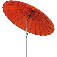 Angel Living Parasol de Jardin avec Pare-Soleil à mécanisme d'inclinaison par manivelle Parasol pour Balcon