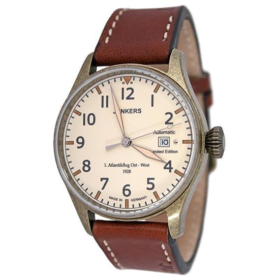 Junkers Reloj de pulsera automático para hombre, diseño conmemorativo de la primera travesía del Atlántico