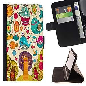 King Case - FOR Sony Xperia M2 - Best wishes for you - Prima caja de la PU billetera de cuero con ranuras para tarjetas, efectivo Compartimiento desmontable y correa para la mu?eca