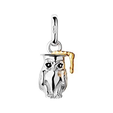 New LINKS OF LONDON Sterling Silver & 18ct Gold Plate Graduation Degree Wise Owl Sweetie Charm 5030.5160 iYcZfh2