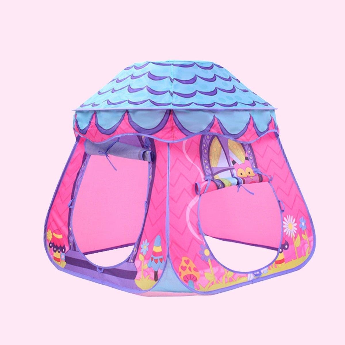 Violet  LIAN Enfants Jouent Tente Pliante Jeu Maison Marine Ball Pool intérieur et extérieur Champignon Tunnel (Bleu, Violet, Jaune 87  87  88 cm Emballage DE 1) (Couleur   Violet)
