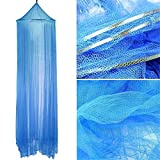 YouGer Mosquito Net, Hanging Bed Canopy Kids Play Tent Indoor Outdoor Dome Princess Castle (Blue)