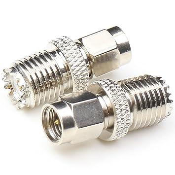 anhan SMA macho a mini UHF hembra adaptador Cable Coaxial ...