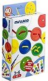 Miniland 31756 - Botones para hilar con ejercicios, 40 piezas [Importado de Alemania]