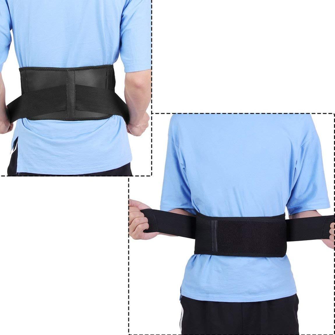 Lordosenst/ütze SchmerzMassager Infrarot Magnetic R/ückengurt Selbsterhitzung Therapie G/ürtel Einstellbare Posture G/ürtel 73JohnPol Multi-Funktions-Taille