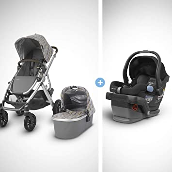 UPPAbaby Vista Stroller - Spenser (Grey&Yellow Tartan/Silver/Moss Leather) + MESA Infant...