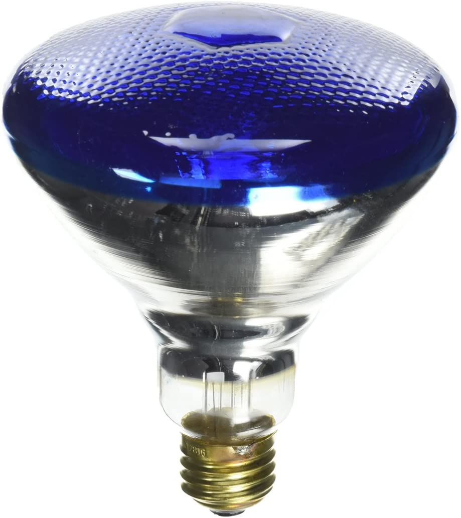 Satco S4428 100 Watt BR38 Incandescent 120 Volt Medium Base Light Bulb Blue