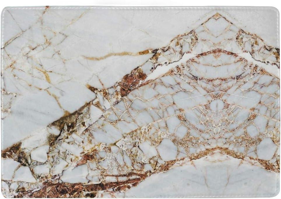 Cracked Marble Multi-purpose Travel Passport Set With Storage Bag Leather Passport Holder Passport Holder With Passport Holder Travel Wallet
