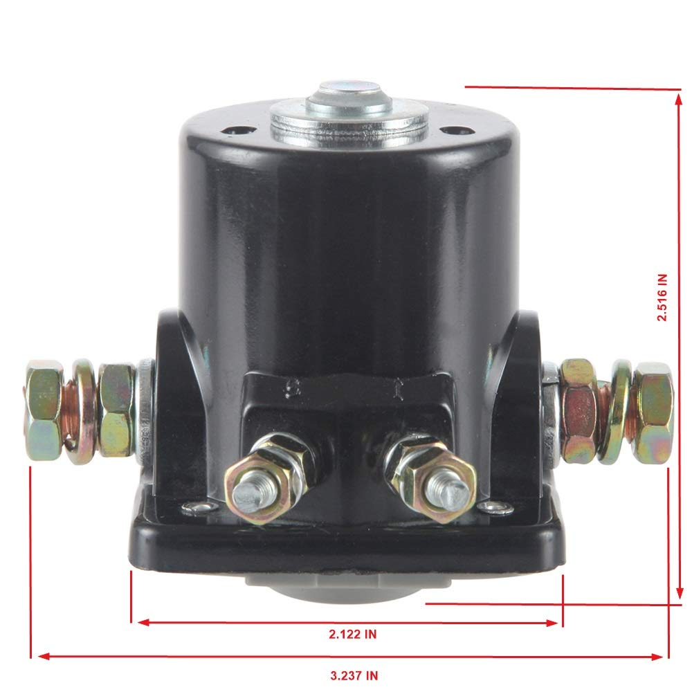 MIDIYA SMR6003 Starter Solenoid Switch Used On OMC Marine Outboards//Other Inboard//Outboard Power Tilt//Johnson//Trim Motor Applications Evinrude Outboard Motor for Insulated Ground 4-Terminal 12 V