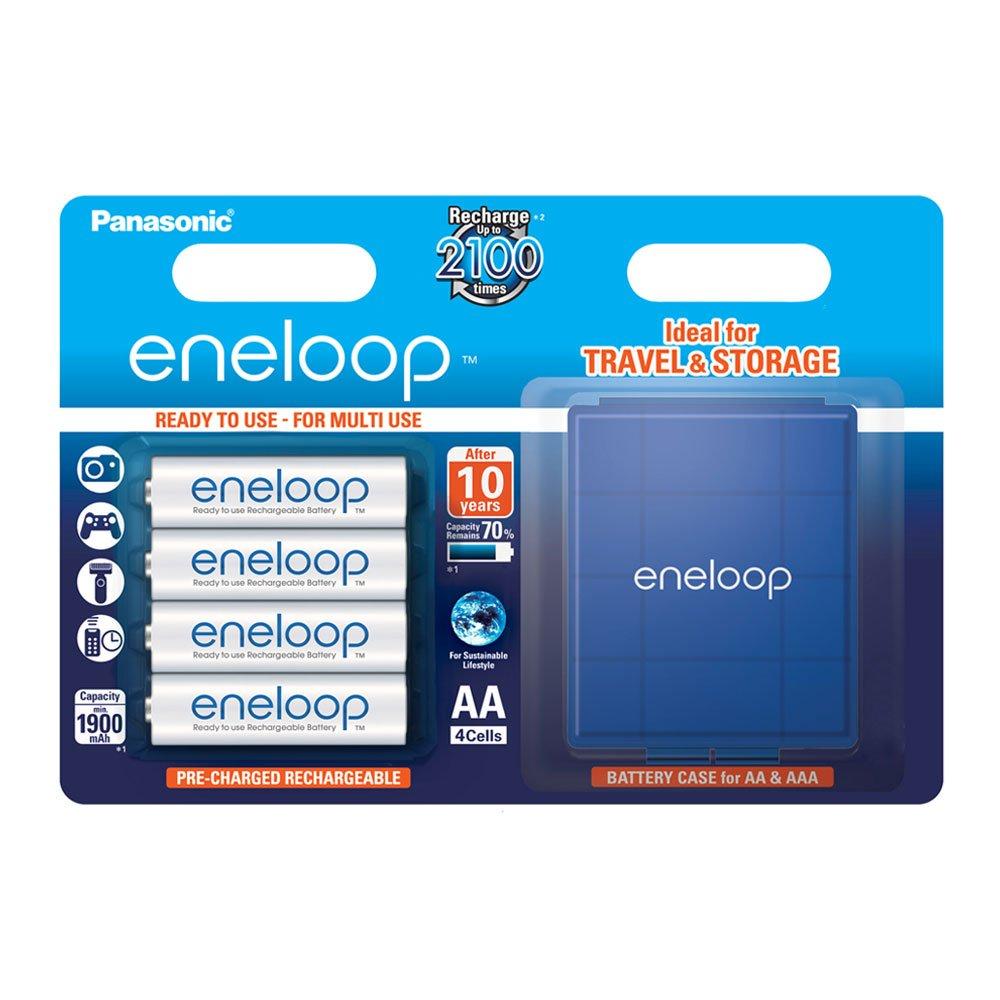 Panasonic Eneloop SY3052654 - Pack 4 Pilas Recargables (AA, con Estuche)