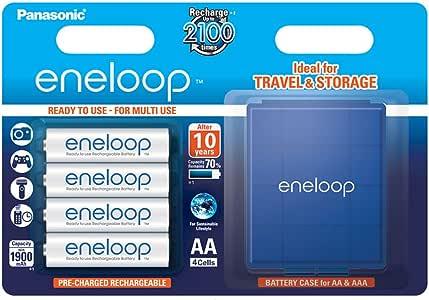 Panasonic Eneloop SY3052654 - Pack 4 Pilas Recargables (AA, con Estuche): Amazon.es: Electrónica