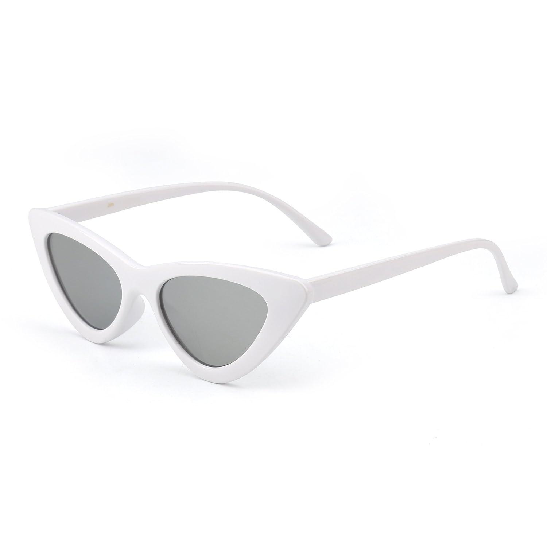 Jm Fashion Lunettes de Soleil Femme Œil de Chat Clout Goggles Lentille Teintée Plastique (Noir/Bleu) M2Ux2