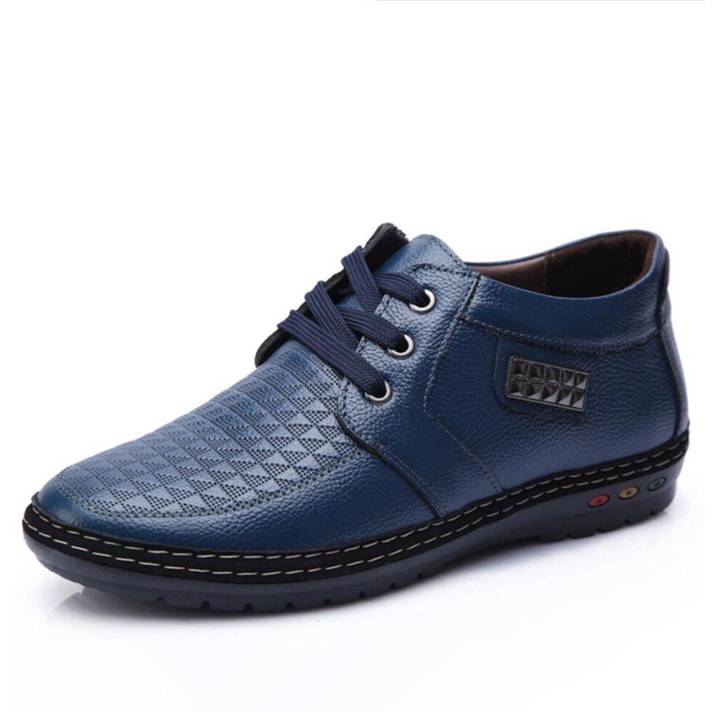 XUE Mens Shoes PU Spring Fall Comfort Lace-up for Casual England Pointed Shoes Loafers Driving Shoes Formal Business Work Office /& Career Party /& Evening Color : B, Size : 39