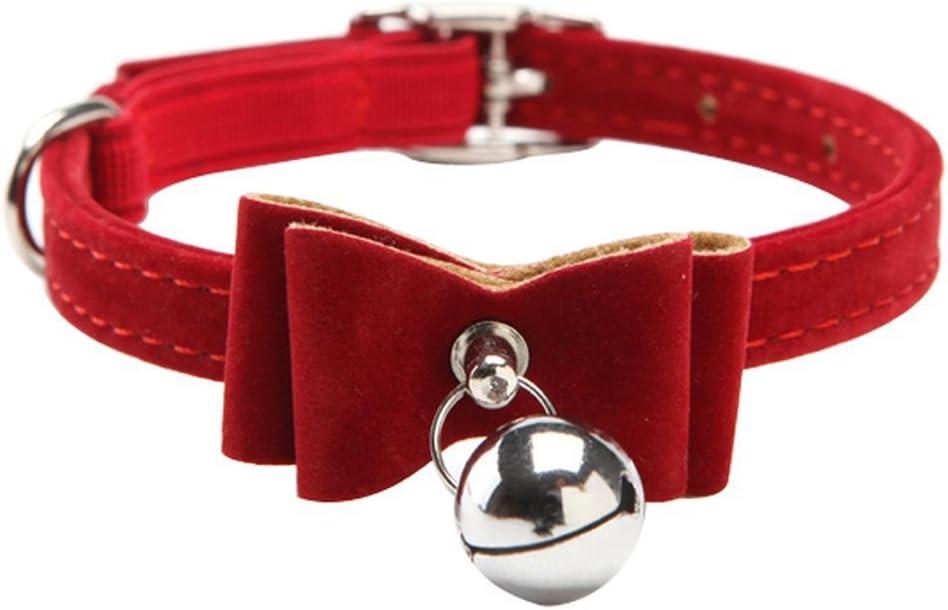 /Collar para Gato de Lazo con Bell Collar para Gato Rojo DDG EDMMS/