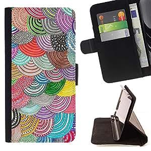 Momo Phone Case / Flip Funda de Cuero Case Cover - Patrón ganchillo bordado - Samsung Galaxy S4 IV I9500