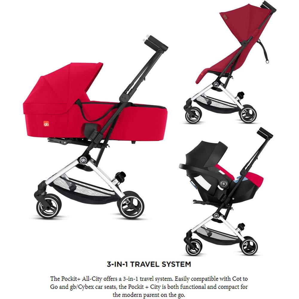 ab 6 Monaten bis 17 kg gb Gold Pockit+ All-City Ultra Kompakter Kinderwagen Handgep/äck ca. 4 Years Silver eloxierter Rahmen Fashion Collection Edition Rose Red