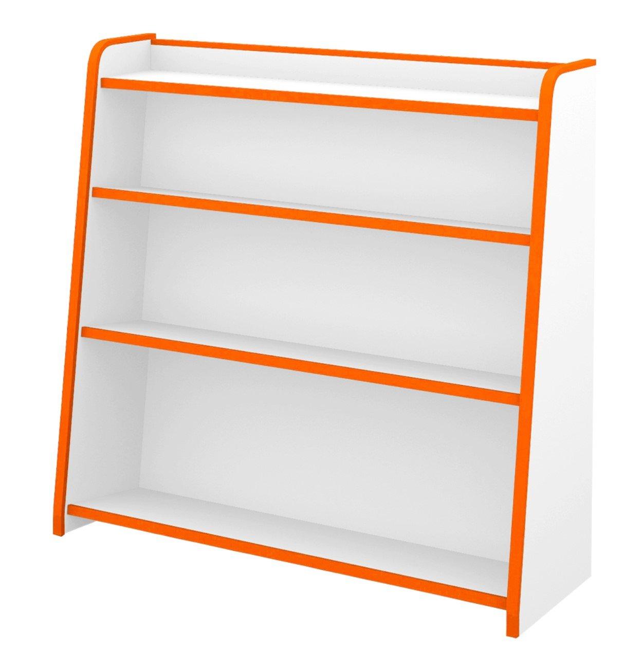 本棚 シェルフ ラック ブックシェルフ ほんだな 幅93cm カラー:オレンジ B01M8J70AE