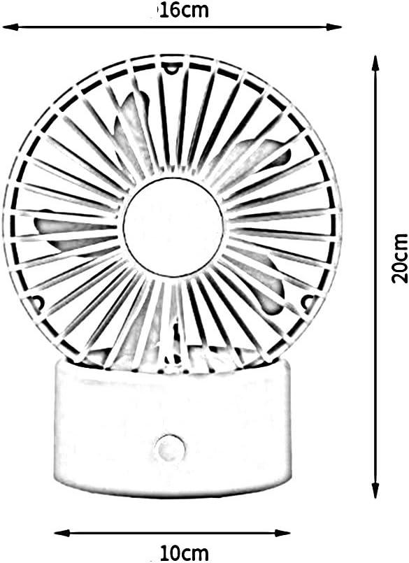 Chunlan Sunhat Ventilatore Silenzioso Portatile dell\'abbonino dello Studente dell\'ufficio del Mini Ventilatore del Desktop di USB (Colore : Green) Pink