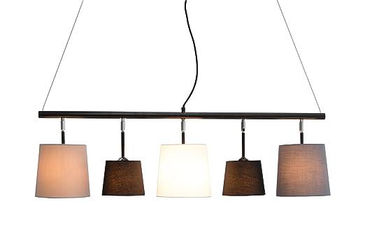 Dunord Design Hangelampe Esszimmer Pendellampe Lampe Schwarz Weiss
