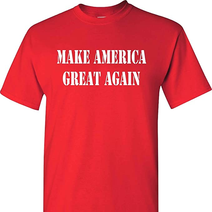 9d68d375 Image Unavailable. Image not available for. Color: MAGA Make America Great  Again Red Short Sleeve T Shirt