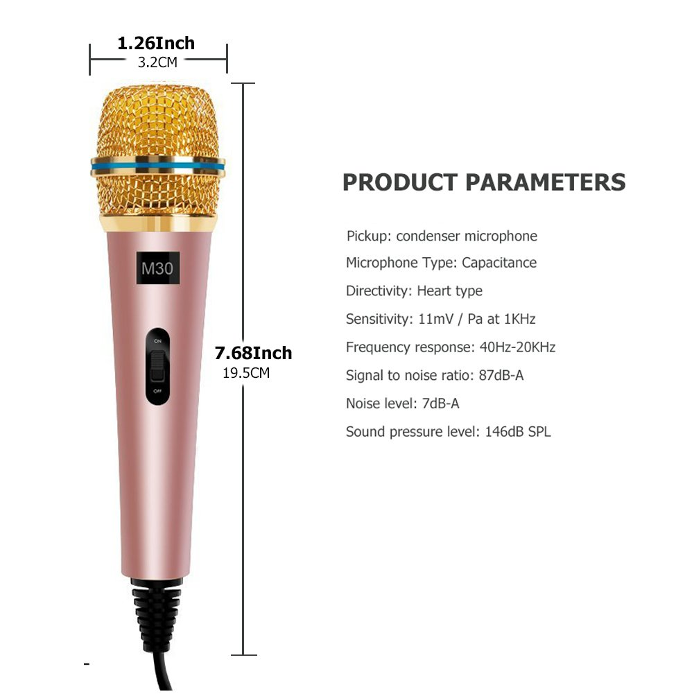 TKGOU Recording Microphone, Computer Microphone Sets With Tripod Stand & Pop Filter Recording microphone for computer/iphone/latop,Great For Youtube,Facebook,Gaming- M30RG-Plus by G-Touker (Image #3)