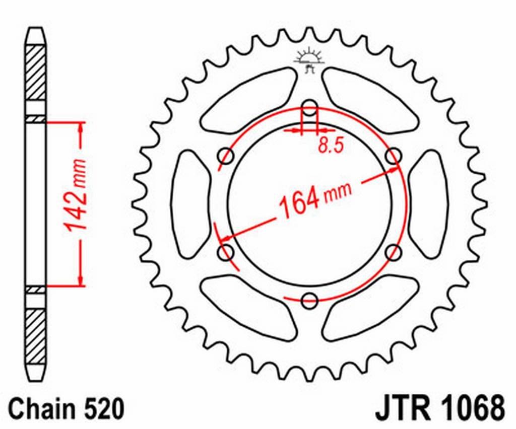 JT - R106846 : Corona plato transmision trasero