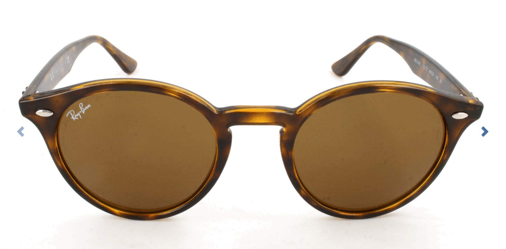 RAY-BAN RB2180 Round Sunglasses, Dark Tortoise/Brown, 49 mm by RAY-BAN
