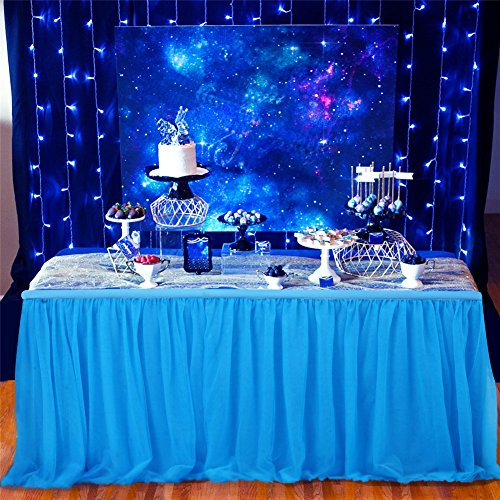 4-lagige Tischdecke mit Chiffon Futter elegantstunning Tischrock Moderner Stil T/üll Rock f/ür Geburtstag Baby Dusche Party Hochzeit Tisch Dekoration