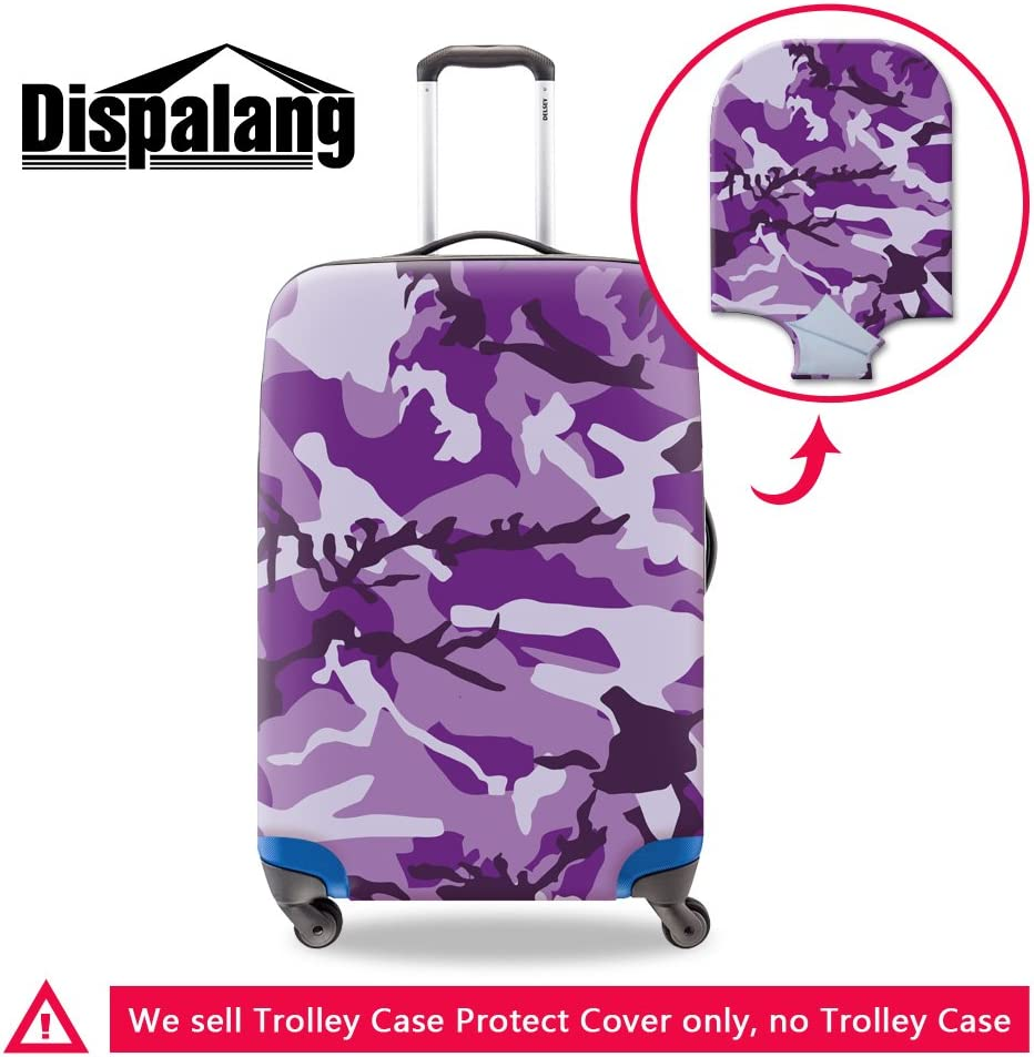Dispalang Camouflage Print Luggage Cover Cool Suitcase Protector Cover Travel Accessories