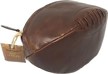 Bolso Neceser de Cuero con Forma de Balón de Rugby: Amazon.es ...