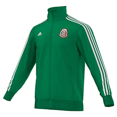 f17f82c0904c Amazon.com  Adidas Mexico 3Stripe Mens Soccer Track Top XS Green-White   Clothing
