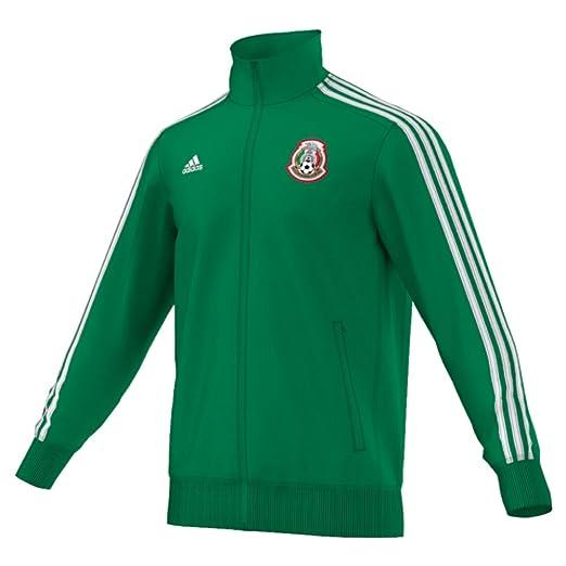 Amazon Com Adidas Mexico 3stripe Mens Soccer Track Top Xs Green