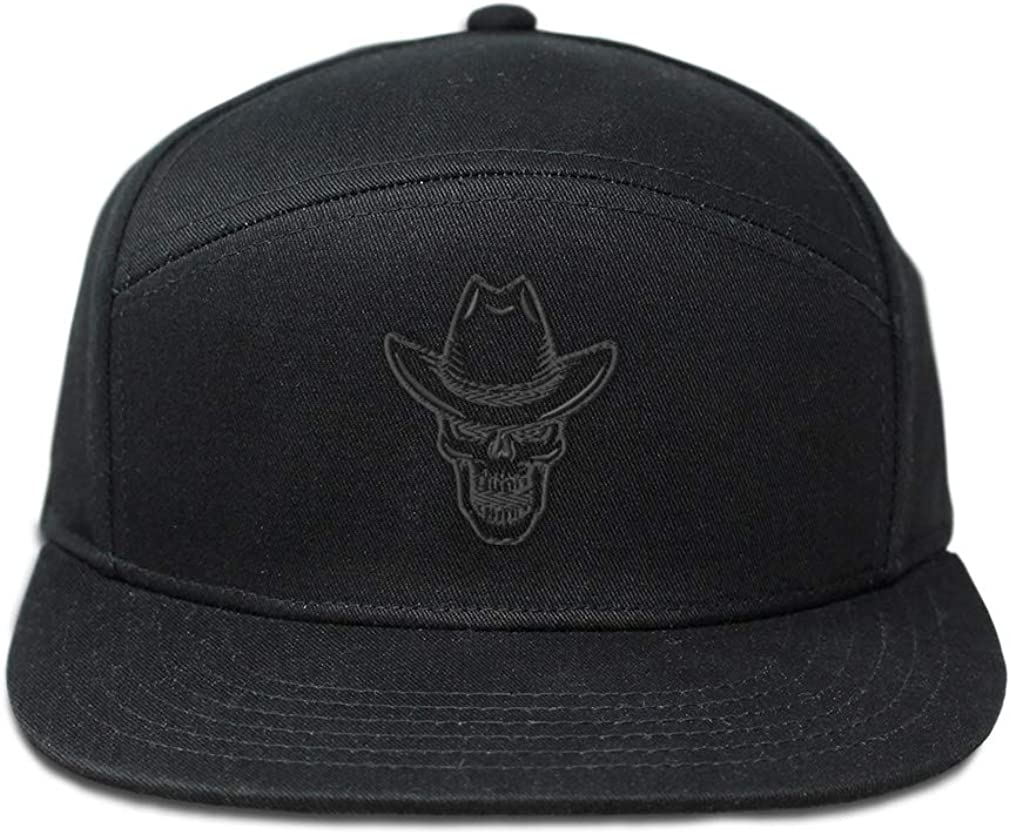 Custom Snapback Hats for Men /& Women Grey Mad Cowboy Hat Skull Embroidery Cotton