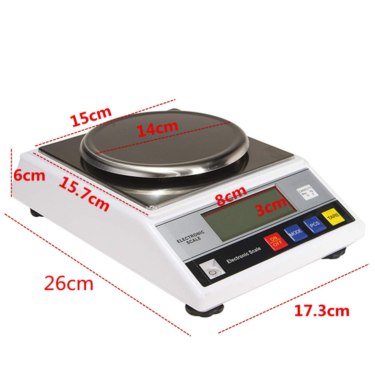 CGOLDENWALL High Precision Digital Accurate Analytical Electronic Balance Lab Scale Laboratory Weighing Balance Industrial Scale with Counting Function CE 14cm Large Weighing Pan 0.01g 2000g, 0.01g