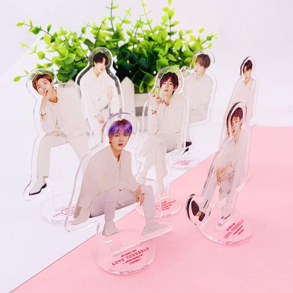 Youyouchard Kpop BTS Japan Official Fan Meeting Vol.5 Standing Figure Desk Stand Miniature Action Figure Acrylic Anime Figure Display Stand for Home Office Decor Jimin