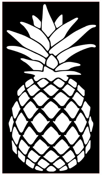 Pineapple Vinyl Decal  Vinyl Sticker Macbook Laptop Car Window CHOOSE COLOR!