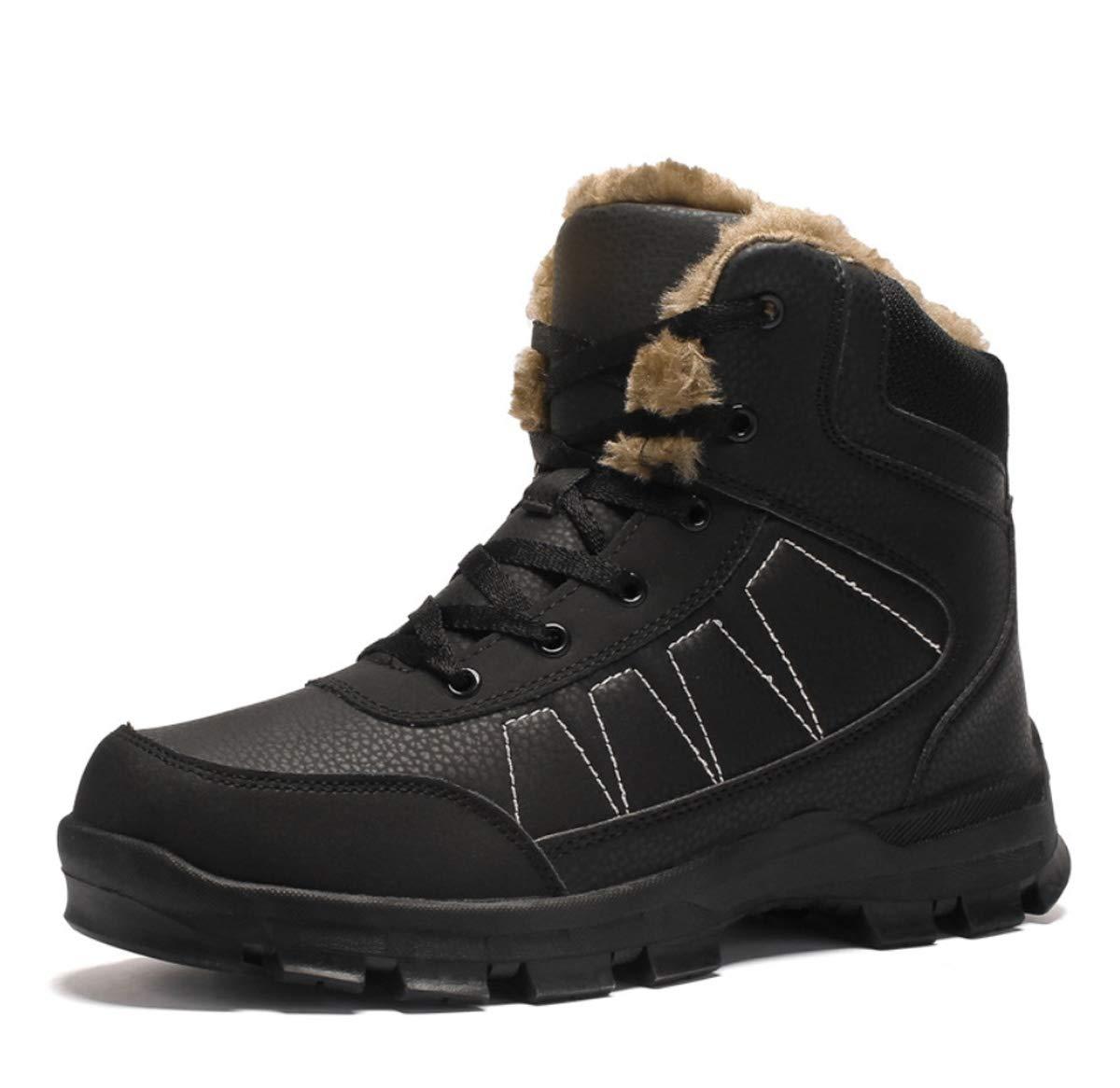 DANDANJIE Herren Schuhe mit High-Top-Winter Outdoor Wanderschuhe Anti-Rutsch-Turnschuhe Warm Snow Stiefel