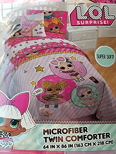 "Price comparison product image LOL Surprise Twin Comforter 64""X86"""