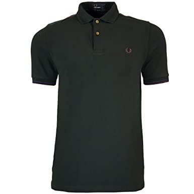 Fred Perry Mens Slim Fit Black Lindsay Tartan Trim Polo Shirt XXL ...