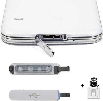 Malloom®1 pcs PARA Samsung Galaxy S5 Usb cargador de puerto cubierta de tapa reemplazo solapa: Amazon.es: Electrónica