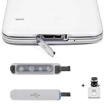 Malloom®1 pcs PARA Samsung Galaxy S5 Usb cargador de puerto cubierta de tapa reemplazo solapa
