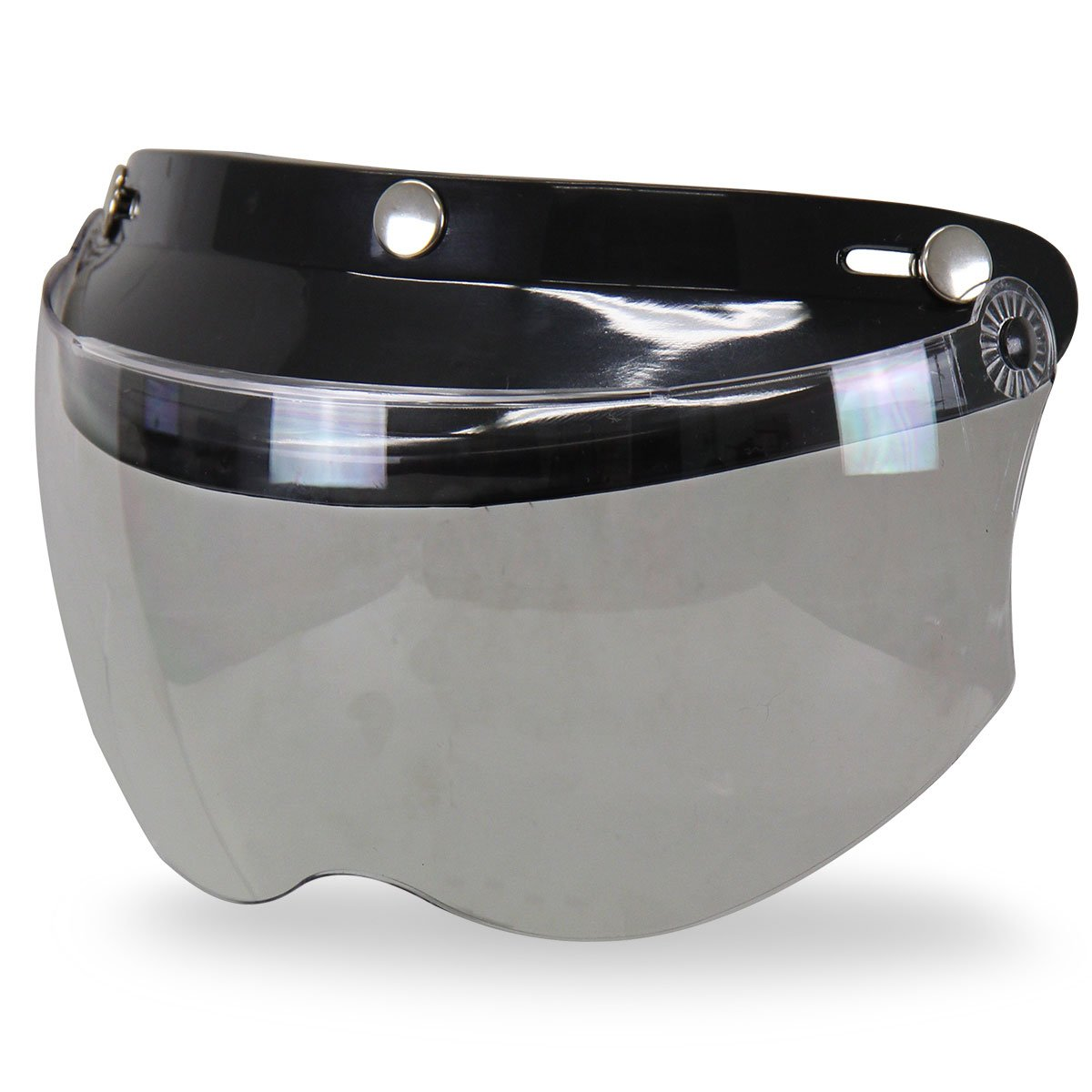Outlaw Universal 3 Snap-Button Visor with Flip-up Light Smoke Shield - One Size