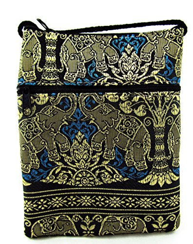 Phone Cellphone Wallet Purse Small Elephant Passport Navy with Bag Blue Strap Crossbody BYwwq5Oz
