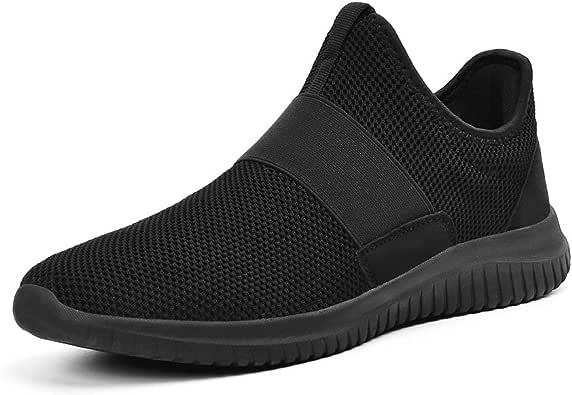 QANSI Zapatillas Running Hombres Sin Cordones Zapatos Deportivos Al Aire Libre Slip on: Amazon.es: Zapatos y complementos