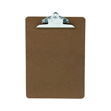 amazon com hardboard clipboard letter size natural brown color