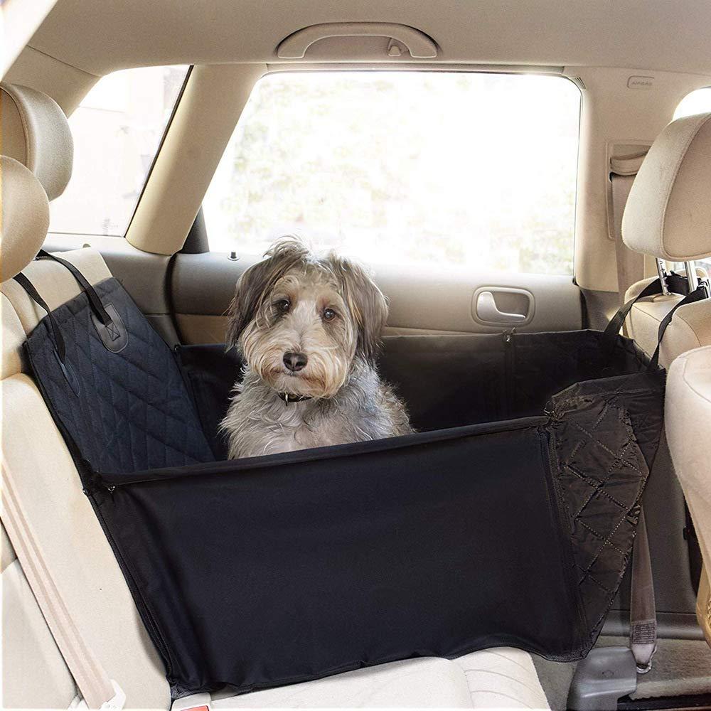 Seggiolino Auto Traspirante Protettivo Zanzariere Borsa da Viaggio con Guinzaglio di Sicurezza per Cani di Piccola Taglia Cuccioli di Gatto PETEMOO Seggiolino Auto per Cani da Compagnia